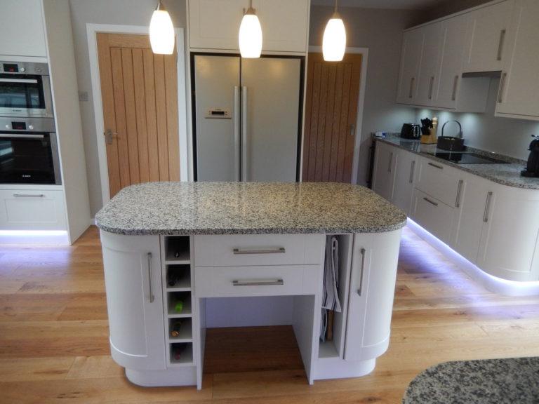 kitchen design and fitting in basingstoke white glass kitchen island