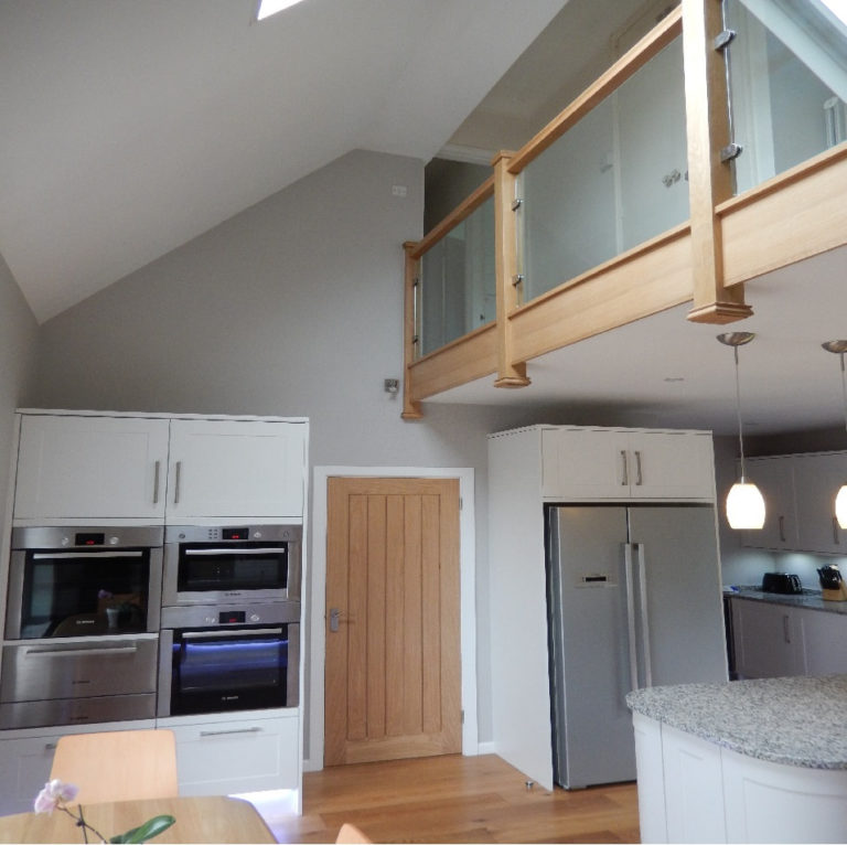 fitted kitchen with gallery david matthews carpentry and joinery basingstoke